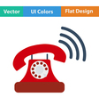 Flat Design Single communication vector image vector image