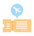 flight ticket flat vector image vector image