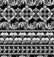 floral black seamless vector image
