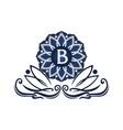 flower elegant icon initial b vector image