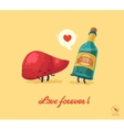 fnny for lovers vector image vector image