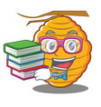 geek bee hive character cartoon vector image vector image