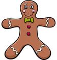 gingerbread man cartoon vector image vector image