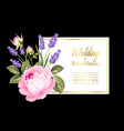 gold wedding invitation vector image