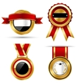 Golden Red Black Premium Quality Best Labels vector image