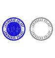 grunge leningrad oblast textured stamp seals vector image vector image