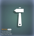 hammer icon On the blue-green abstract background vector image vector image