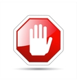 hand sign No entry vector image