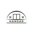 hangar logo vector image vector image