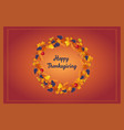 happy thanksgiving celebration banner bright vector image vector image