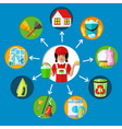 Housemaid Cleaning Service Concept vector image vector image