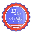 Independence day badge icon cartoon style vector image vector image