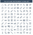 instrument icons vector image vector image