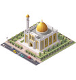isometric mosque vector image
