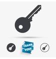 Key sign icon Unlock tool symbol vector image vector image