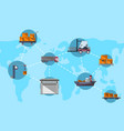 logistics and worldwide shipping concept vector image vector image