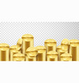 lot gold money background business and banking vector image vector image