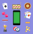 mobile casino game kit isolated vector image vector image