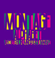 montage alphabet colorful letters font isolated vector image vector image