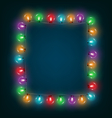 Multicolored glassy led Christmas lights garland vector image vector image