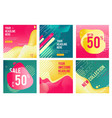 offers banners prommotion square images for big vector image vector image