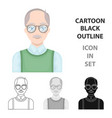 old manold age single icon in cartoon style vector image