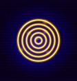 onion slice neon sign vector image vector image