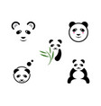 panda logo template icon vector image