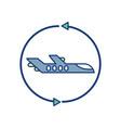 plane around travel aviation transport airport vector image