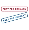 Pray For Germany Rubber Stamps vector image vector image