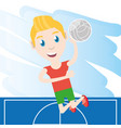 pretty woman athlete playing volleyball vector image vector image