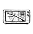 radio clock vector image