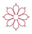 red line flower icon vector image vector image
