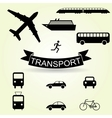 set icons vehicles vector image