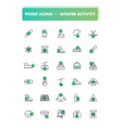 set of 30 line icons winter activity vector image vector image