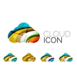 Set of abstract cloud computing icons business vector image vector image