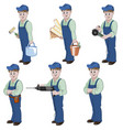 set of decorator or handyman vector image vector image
