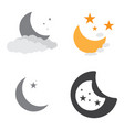 set of moon icons vector image