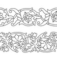 set of seamless floral patterns tape vector image vector image