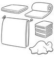 set of towels vector image vector image