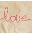 Shape word - love EPS 10 vector image