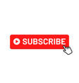 subscribe button for social media subscribe to vector image vector image