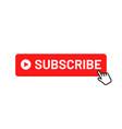 subscribe button for social media vector image