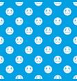 suspicious emotpattern seamless blue vector image vector image