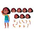teen girl black afro american teenager vector image vector image