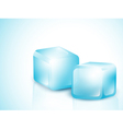 Two Blue Ice Cubes vector image vector image