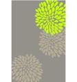 vector flower design vector image vector image