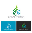 water drop ecology abstract logo vector image vector image