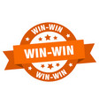 Win-win ribbon win-win round orange sign win-win