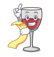 with menu wine mascot cartoon style vector image